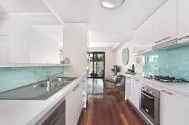 best white galley kitchen