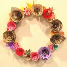 decoration items concept wall decor with paper crafts siex