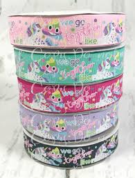 wholesale ribbon 7 8 we go together like unicorn ribbon emoji poo ribbon