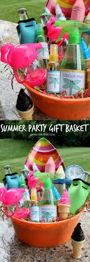 summer gift basket summer party gift basket oh my creative