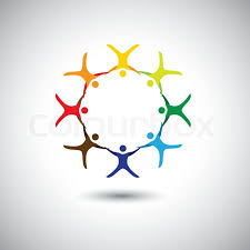 colorful circle unity integrity concept