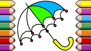 coloring book colour magic umbrella how to draw coloring pages