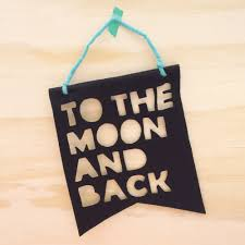 Flag Hanging To The Moon And Back U0027 Hanging Flag U2013 Black Little Pea Interiors