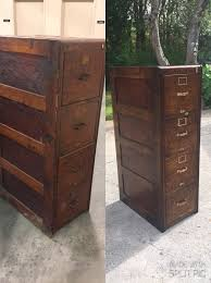 Antique Filing Cabinet Refinished An Antique File Cabinet First Time Refinishing