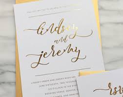 wedding invitations gold foil gold foil wedding invitation suite custom wedding