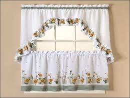 Yellow Gingham Valances by Yellow Kitchen Curtains Large Size Of Window Curtains And 42