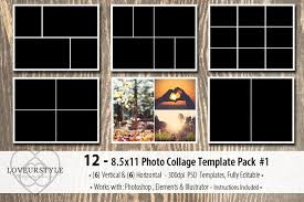 8 5 x11 photo album 8 5x11 photo album template pack 1 templates creative market