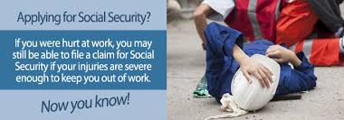 i was disabled at work can i still file for social security