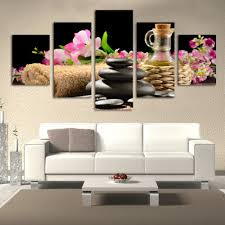 modern spa promotion shop for promotional modern spa on aliexpress com fashion 5 piece lot modern spa flower and stone paintings hd large image canvas wall art home decorative hanging picture