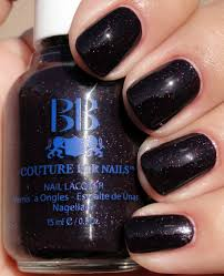 very dark and vampy purple deep pulm nail polish for girls women