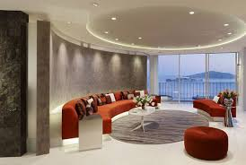 contemporary family room design square ottomans charming white