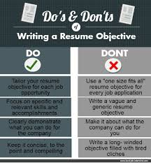 Resumes Objective Samples by Resume Objective Samples That Really Work