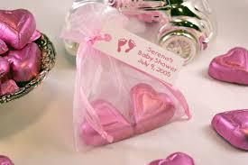 pink organza bags chocolate heart sheer bag