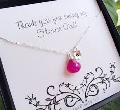 wedding gift necklace wedding gifts for flower girl personalized wedding gift flower