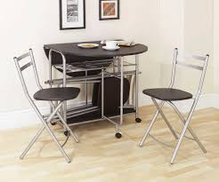 Dining Tables  Butterfly Drop Leaf Table With  Foldable Chairs - Drop leaf round dining table ikea