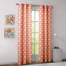 Curtain Pair Intelligent Design Lita Geometric Grommet Top Window Curtain Pair