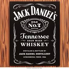 Liquor Signs Jack Daniels Whiskey Label Tin Sign Bar Signs Retroplanet Com