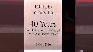 ed hicks mercedes hicks family celebrates 40 years with mercedes kristv com