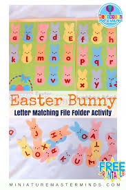easter bunny alphabet upper and lower case letter matching file