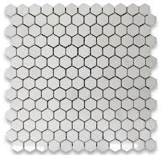 12 x12 thassos white hexagon mosaic tile polished chip size 1