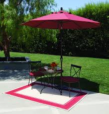 Treasure Garden Umbrella Replacement Pole by 9 U0027 Push Button Tilt Umbrella Really Red All Things Barbecue