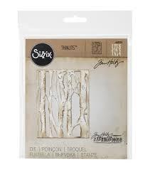 sizzix thinlits die by tim holtz birch trees joann