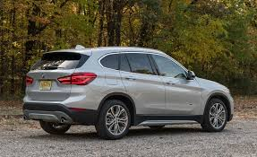 bmw suv interior 2017 bmw x1 in depth model review car and driver