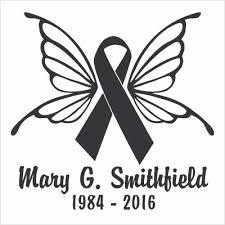 memorial ribbons cancer awareness ribbons and in memory of car window decals in