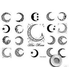 image result for crescent moon designs henna moons