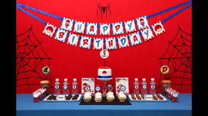 spiderman birthday party themes decoration ideas youtube