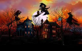 free halloween wallpaper screensavers witch wallpapers group 82