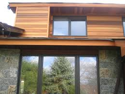 Outdoor Wainscoting Wavy Cedar Siding Exterior Contemporary With Cable Railing Modern