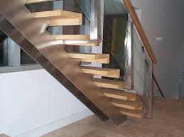 double stringer stairs home design ideas and pictures