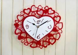 Personalized Wedding Clocks Homemade Fancy Lovely Red Silent Personalized Wall Clock Wedding