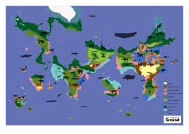 World Map Biomes by Life On Snaiad C M Kosemen