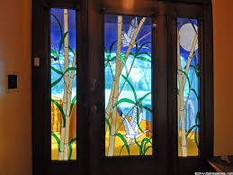 Exterior Doors Salt Lake City Contemporary Front Door With Stained Glass Window Glass Panel