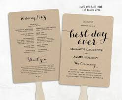 wedding programs ideas printable wedding program template fan wedding program diy kraft