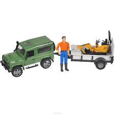 land rover bruder купить bruder внедорожник land rover defender c прицепом и мини