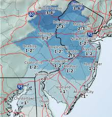 Trenton Zip Code Map by Weekend Storm Brings Snow Sleet To N J Nj Com