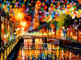 lights and shadows of amsterdam u2014 palette knife oil painting on