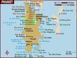 map of thailand map of phuket