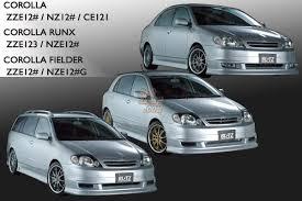 2001 toyota corolla spoiler rhdjapan blitz aero speed toyota corolla front bumper spoiler