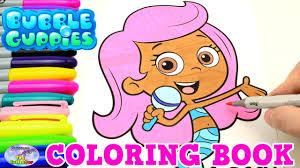 bubble guppies coloring book nick jr show molly mermaid episode