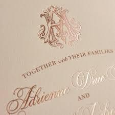 wedding invitations rose rose gold foil custom monogram wedding invitations by ecru