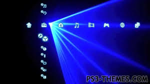 themes com ps3 themes ultimate blue laser dynamic theme
