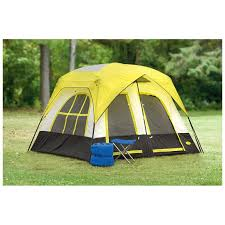 texsport lazy river 2 room cabin tent gray black yellow