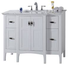 single sink vanity white cabinet only 44 transitional bathroom