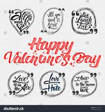 happy valentine day quotes all you stock vector 357527267