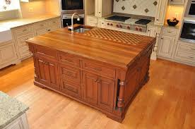 solid wood kitchen islands kitchen solid wood kitchen island with butcher block countertop