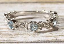 aquamarine wedding aquamarine wedding and anniversary bands ebay